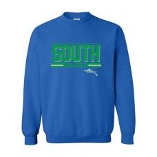 BSS 2021 Football SOUTH Crewneck Sweatshirt (Royal)